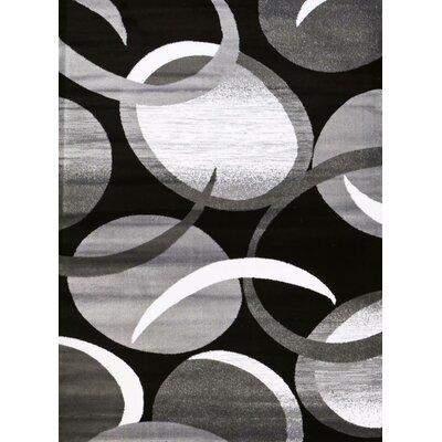 Bennet Gray/Black Area Rug Rug Size: 8 x 11