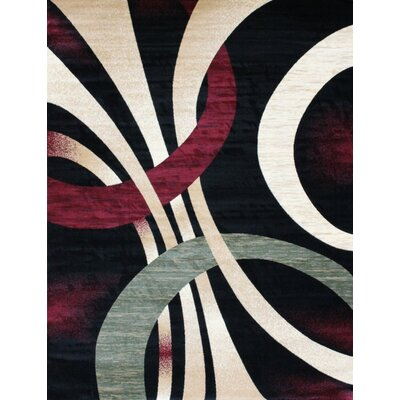 Bennet Black/Cream Indoor/Outdoor Area Rug Rug Size: 5 x 8
