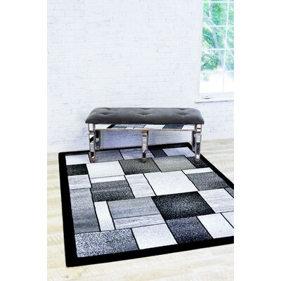 Bennet Gray Indoor/Outdoor Area Rug Rug Size: 710 x 106