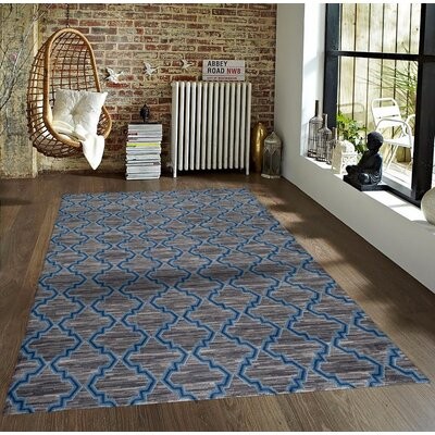Bennet Gray/Blue Indoor/Outdoor Area Rug Rug Size: 8 x 10