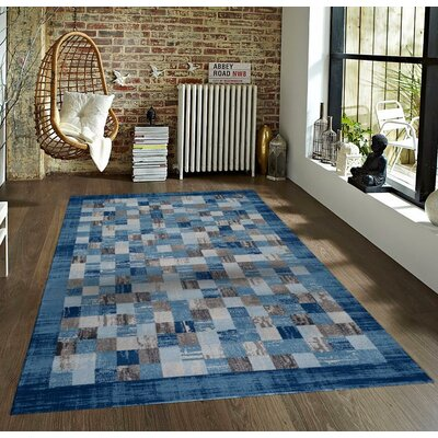 Bennet Blue Indoor/Outdoor Area Rug Rug Size: 5 x 7