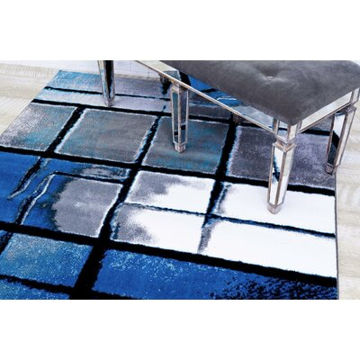 Bennet Turquoise Indoor/Outdoor Area Rug Rug Size: 52 x 72