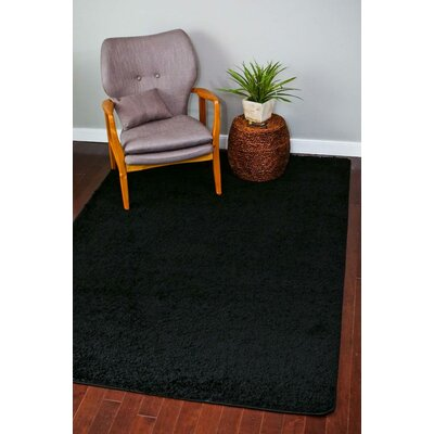 Bennet Black Indoor/Outdoor Area Rug Rug Size: 5 x 7