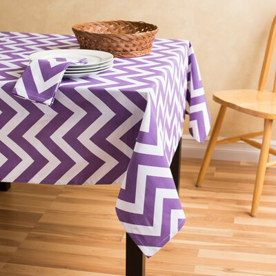 Kirkman Square Cotton Tablecloth Color: Purple/White