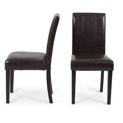 Humboldt Side Chair Upholstery: Brown