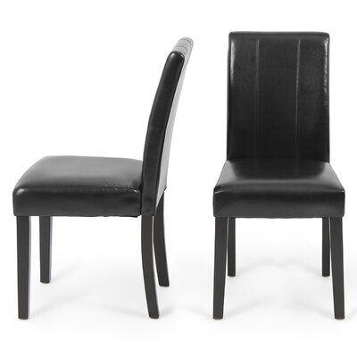 Humboldt Parsons Chair Upholstery: Black