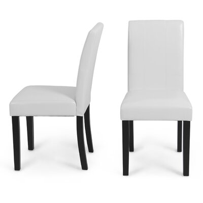 Humboldt Parsons Chair Upholstery: White