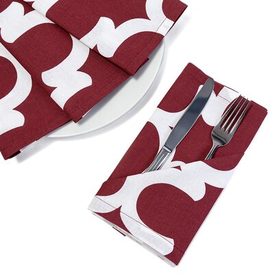 McClelland Cotton Napkin Color: Rosewood/White