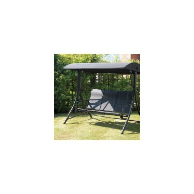 Burnstad Porch Swing with Stand Finish: Black