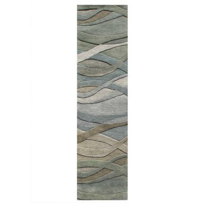 Gilliam Hand-Tufted Dark Green Area Rug Rug Size: Runner 2 x 8
