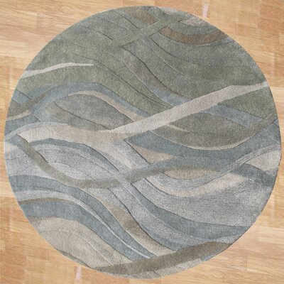 Gilliam Hand-Tufted Dark Green Area Rug Rug Size: Round 6