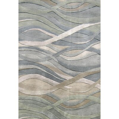 Gilliam Hand-Tufted Dark Green Area Rug Rug Size: 5 x 8