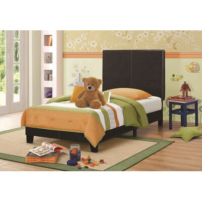 Blanchard Upholstered Platform Bed Size: Queen, Color: Brown