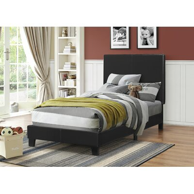 Blanchard Upholstered Platform Bed Size: Twin, Color: Black