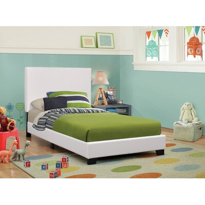 Blanchard Upholstered Platform Bed Size: Full, Color: White