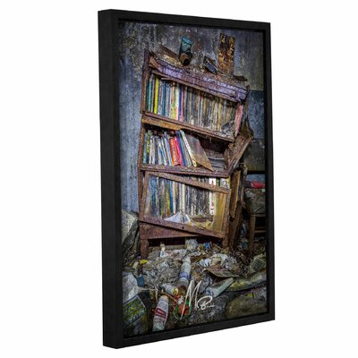 'Abandoned Books' Framed Photographic Print on Canvas Size: 12