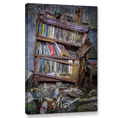 'Abandoned Books' Photographic Print on Wrapped Canvas Size: 12