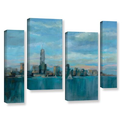 'Manhattan Tower of Hope' Painting Print Multi-Piece Image on Wrapped Canvas Size: 24