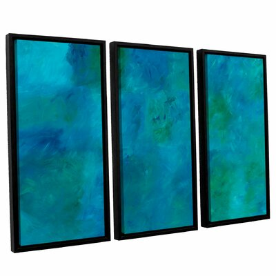 'Blue Currents' Painting Print Multi-Piece Image on Canvas Size: 24