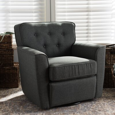 Kleopatros Retro Upholstered Lounge Chair Upholstery: Gray