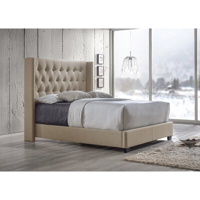Rumford Upholstered Platform Bed Upholstery: Brown, Size: Queen