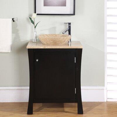 Crisler 26 Single Bathroom Vanity Set Base Finish: Espresso / Brushed Chrome