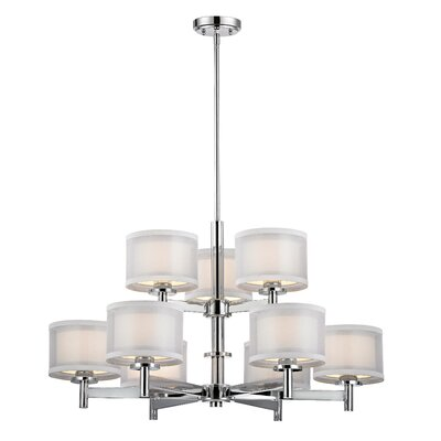 Jarrett 9-Light Drum Chandelier
