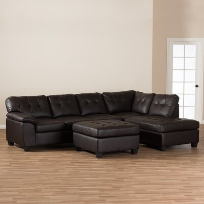 Pemberton Heights Sectional Upholstery: Chocolate