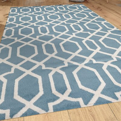 Shields Blue Area Rug Rug Size: Rectangle 53 x 73