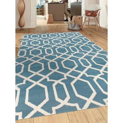 Shields Blue Area Rug Rug Size: 2 x 3