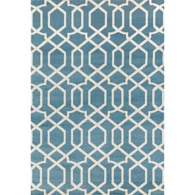 Shields Blue Area Rug Rug Size: Rectangle 33 x 5