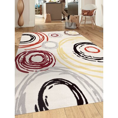 Shields Cream Area Rug Rug Size: 2' x 3'
