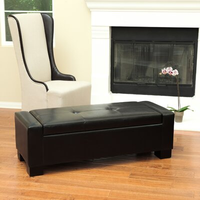 Shaffer Storage Ottoman Upholstery: Black