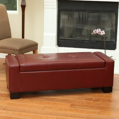 Shaffer Storage Ottoman Upholstery: Oxblood Red