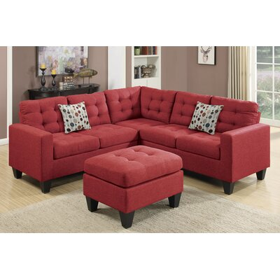 Pawnee Modular Sectional Upholstery: Carmine