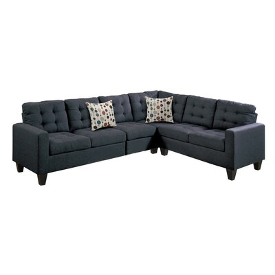 Prescot Sectional Upholstery: Black