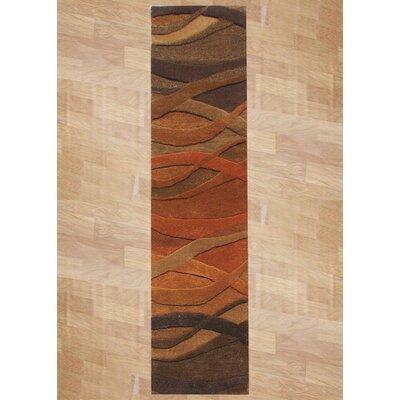 Stretton Hand-Tufted Ograne Area Rug Rug Size: Runner 2' x 8'
