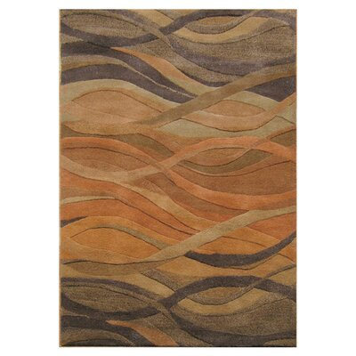 Stretton Hand-Tufted Ograne Area Rug Rug Size: Rectangle 9 x 12