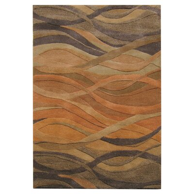 Stretton Hand-Tufted Ograne Area Rug Rug Size: Rectangle 8 x 10