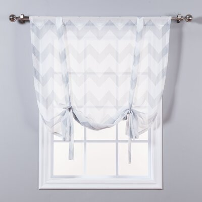 Sheer Chevron Tie-Up Shade Color: Gray