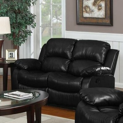 Bryce Double Reclining Loveseat Upholstery: Black