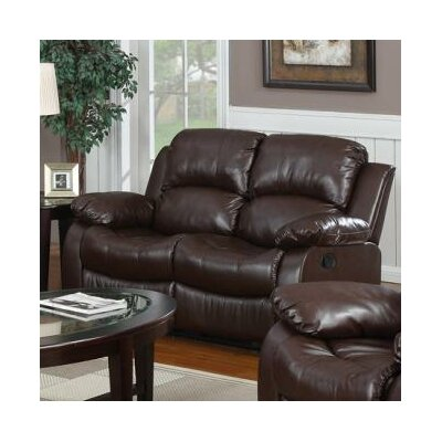 Bryce Double Reclining Loveseat Upholstery: Brown