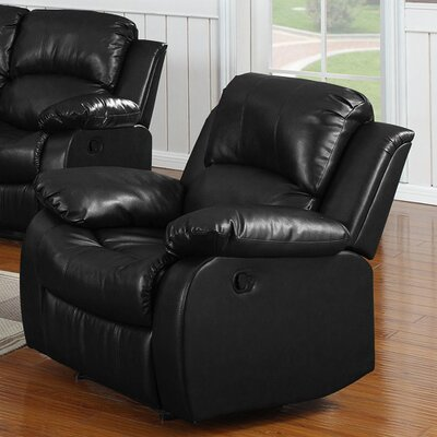 Bryce Rocking Recliner Upholstery: Black