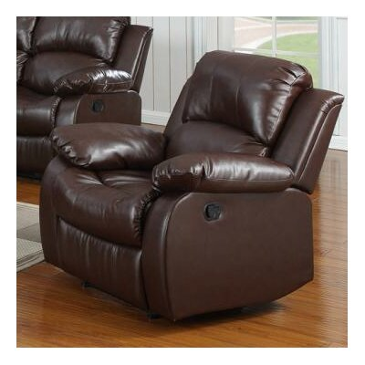 Bryce Rocking Recliner Upholstery: Brown
