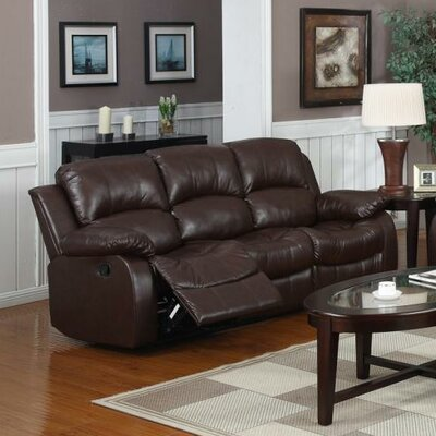 Bryce Double Reclining Sofa Upholstery: Brown