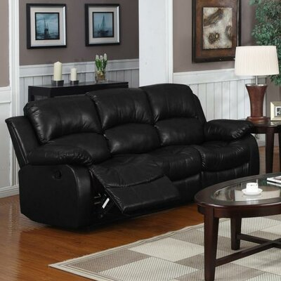 Bryce Double Reclining Sofa Upholstery: Black