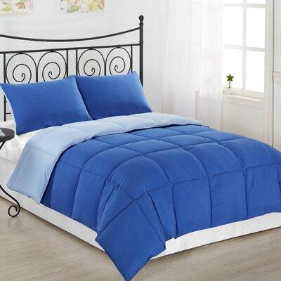 Lucas Reversible Comforter Color: Royal Blue / Light Blue, Size: King / Cal King