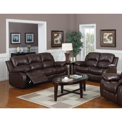 Bryce 2 Piece Reclining Living Room Set Upholstery: Espresso