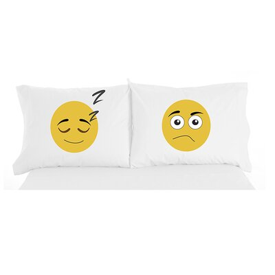 Granby Emojis Inspirational Novelty Print Pillowcase Pair