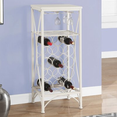 Vickie 15 Bottle Floor Wine Rack Finish: White